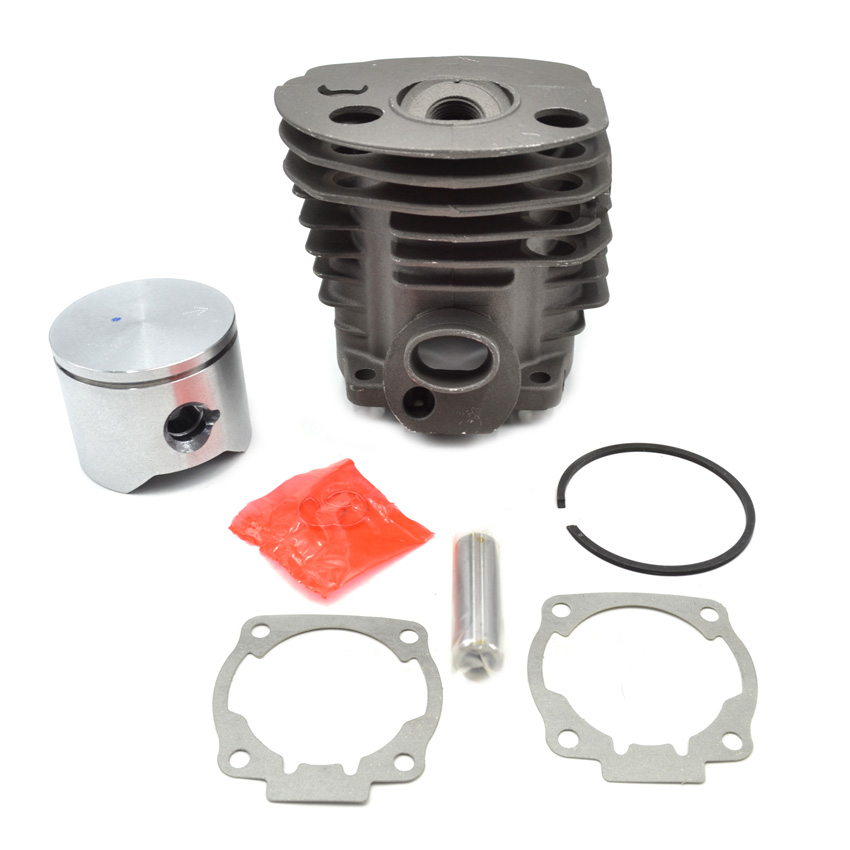 45MM Chainsaw Cylinder Piston Assembly Kit with Gasket for HUS 51 50 Replaces 503168301 503162103 45 2mm cylinder piston gasket assy chinese 5800 58cc chainsaw engine rebuilt kit