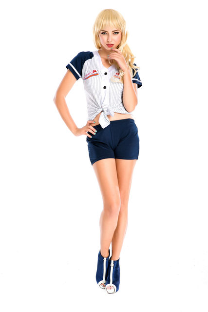 6432d73ea Hot Sale White Sexy Fantasy Costume Cheerleader Costumes Adult Uniform  Fantasias Adult Women s Cheers Team Set