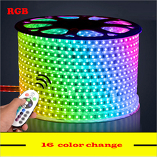 5M 6M 7M 8M 9M 10M 13M RGB Led Strip 5050 Waterproof Led Verlichting Neon Light and 220V Striscia Iluminacion Led Strip Lights