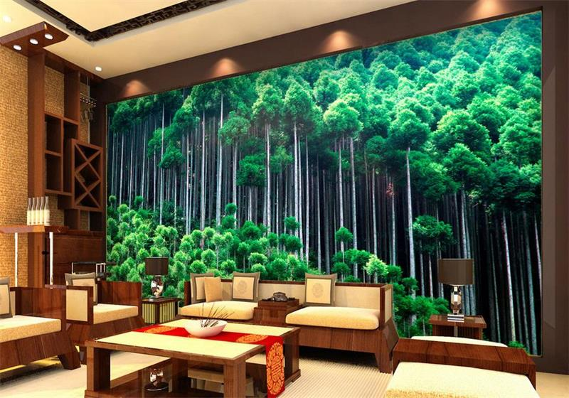 Custom mural wallpaper room 3d photo wallpaper bamboo forest landscape 3d photo room sofa TV background wall non-woven wallpaper цена