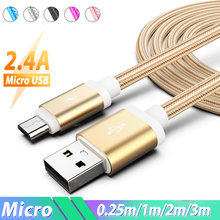 25cm 1m 1.5m 2m 3m Micro USB Charge Cable Microusb Long Cable Kabel Android Charger Cord for Samsung J3 J5 J7 2017 Lenovo ZTE(China)