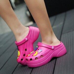 Image 5 - Candy Colors Women Sandals Clogs Mules Eva 2018 Summer Flip Flops Beach Garden Shoes Fashion Slippers Outdoor Chinelo Feminino