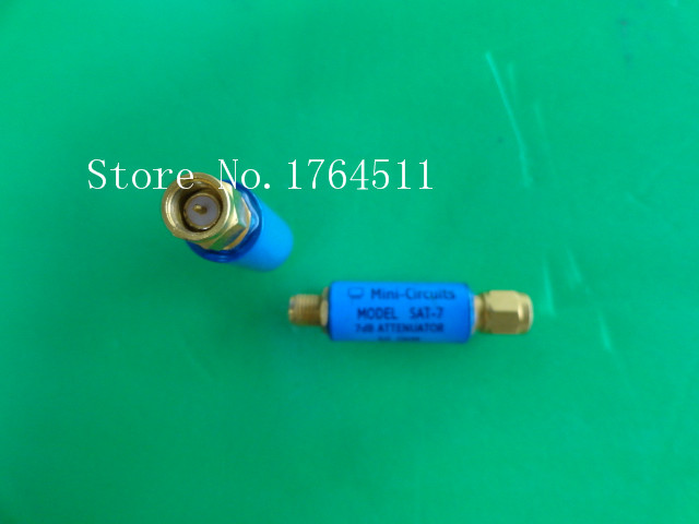[BELLA] MINI SAT-7 DC-1.5GHz Att:7dB 2W SMA Coaxial Fixed Attenuator  --5PCS/LOT