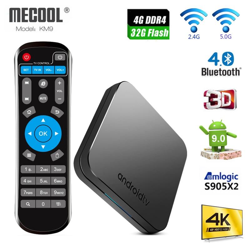 Android 9,0 ТВ коробка MECOOL KM9 Amlogic S905X2, объемом памяти 4 Гб/32