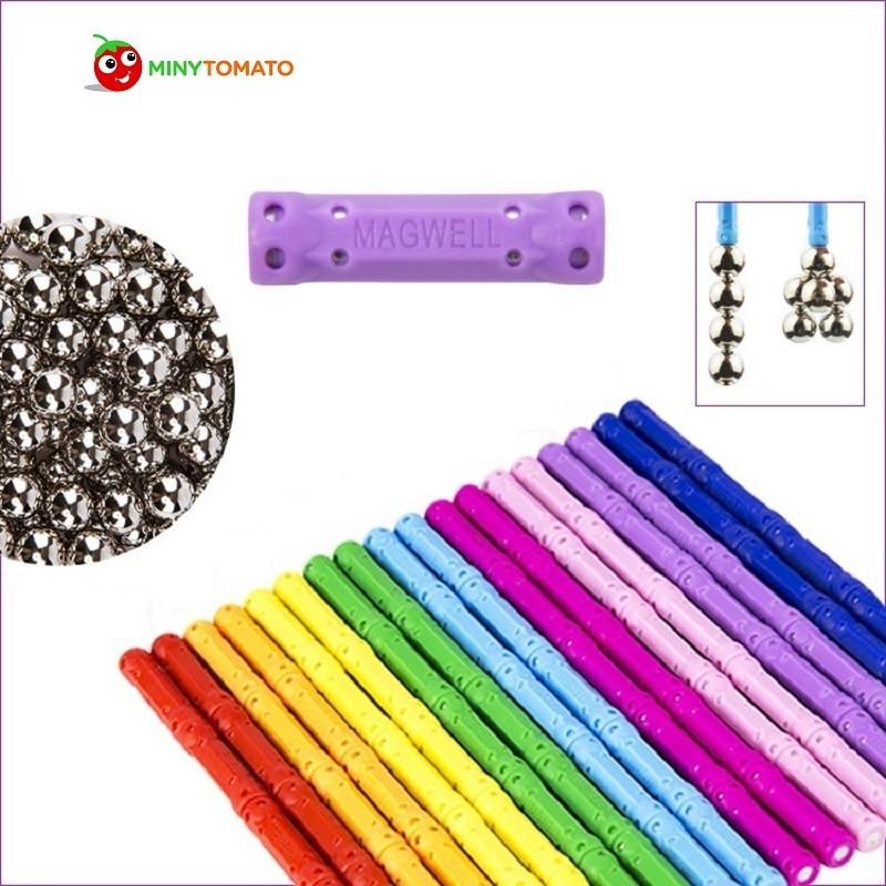 Freies Verschiffen 100 Stick und 60 Ball Kind Frühes Vorsprung Ausbildung puzzle Erstaunliche Magnetische Gebäude Spielzeug Magnete Magnetische Stick
