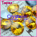 100pcs/lot Topaz  COLOR 8MM 10MM 12MM  14mm 16mm 18mm 20mm  Chinese Top Quality  Round Fancy Stone Rivoli glass beads