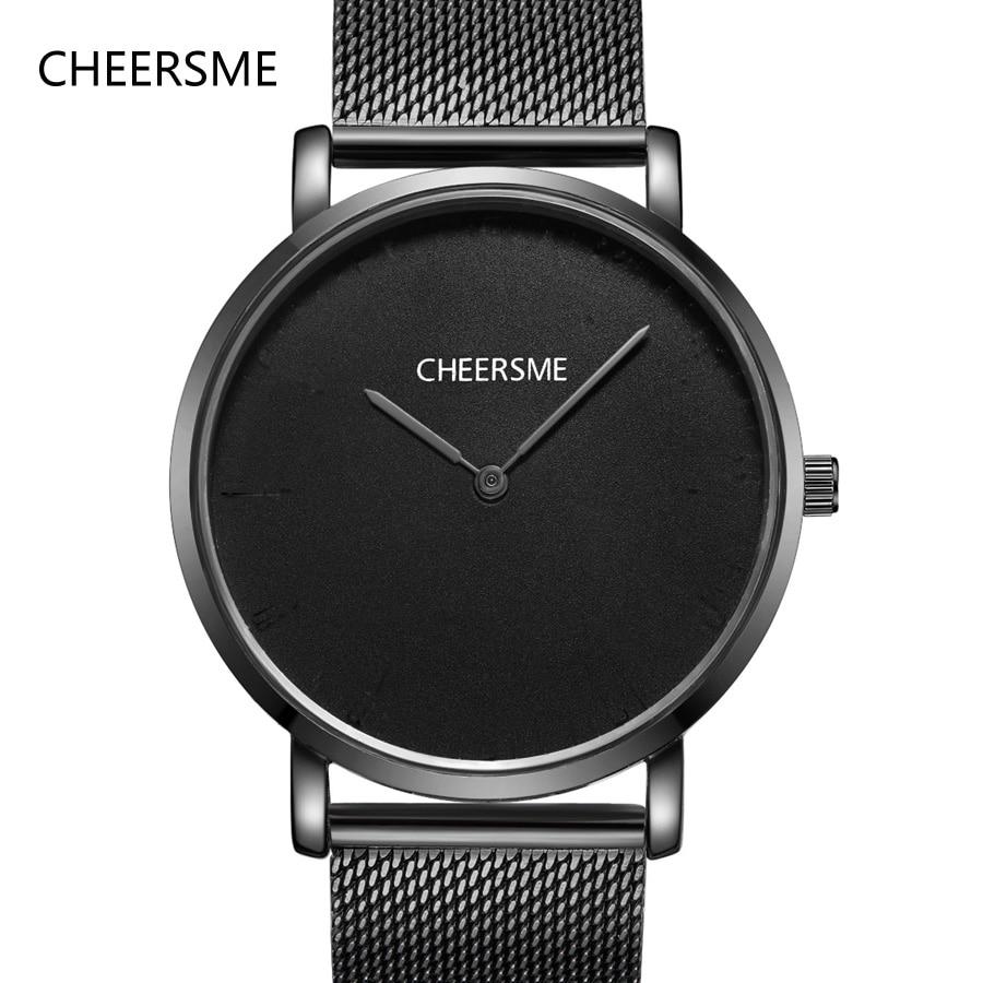 2018 CHEERSME new fashion luxury brand ultrathin watches men quartz milanes band minimalism wrist watch mens zegarki meskie saat