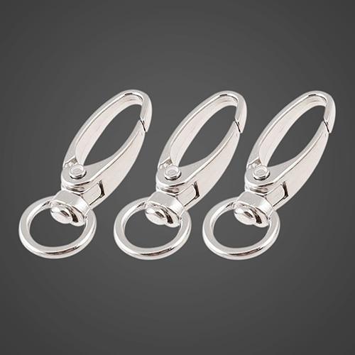 Fermoirs pivotants en alliage de Zinc   9 pièces, anneau ovale pivotant, fermoirs à homard, outils dextérieur durables