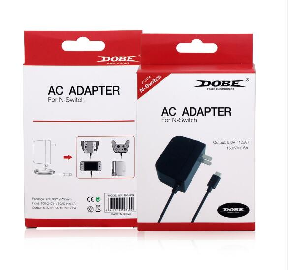 DOBE TNS-869 AC Adapter Charger For Nintend Switch NS Game Console EU Plug Wall Travel Home Charge