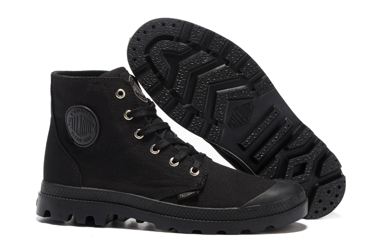 PALLADIUM Pallabrouse Unisex High-top Black Military Ankle Boots Canvas Shoes Sport Shoes Hiking boots цены онлайн