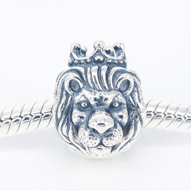 4b81be49b Authentic 925 Sterling Silver Lion Bead King of the Jungle Original Charm  Fits Pandora Bracelet DIY Jewelry For Women Wholesale