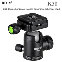 Camera Accessories 360 Horizontal Rotation Panorama Tripod Ball Head with Quick Release Plate Clamp 1/4 Screw for DSLR Camera
