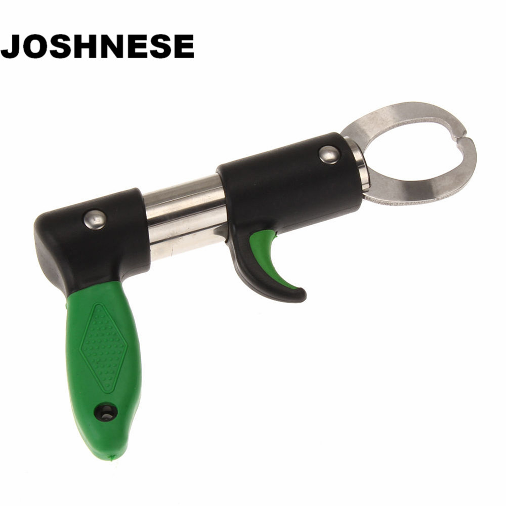 JOSHNESE Portable Stainless Steel Fish Lip Grip with Digital Scale Strong Professional For Fishing Gripper Trigger For Fisherman