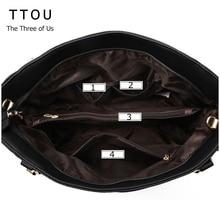 TTOU Women Tassel Casual Tote  Elegant Ladies Handbag Pu Leather Shoulder Bag Large Capacity Hand Bag Commuter Bag Female