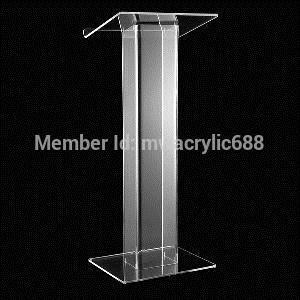 Бесплатная Доставка Популярность Красивый Современный Дизайн Дешевые Прозрачный Акриловый Трибуна подиум