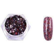 цена на Lulaa Chameleon Irregular Nail Sequins Starry Foils Colorful Glitter 3D Holo Magic Effect Nail Flakes Nail Art Diy Jewelry Uv