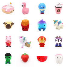 Smooshy Mushy Jumbo Unicorn Fruit Children Slow Rising Antistrss Toy Squishy Squeeze Squishes Toy Kids Funny Keychain Gift(China)