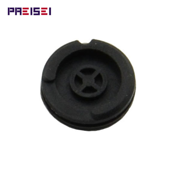 PREISEI Black Silicon <font><b>Key</b></font> Button Rubber Pads For <font><b>Peugeot</b></font> <font><b>406</b></font> <font><b>Remote</b></font> <font><b>Key</b></font> image