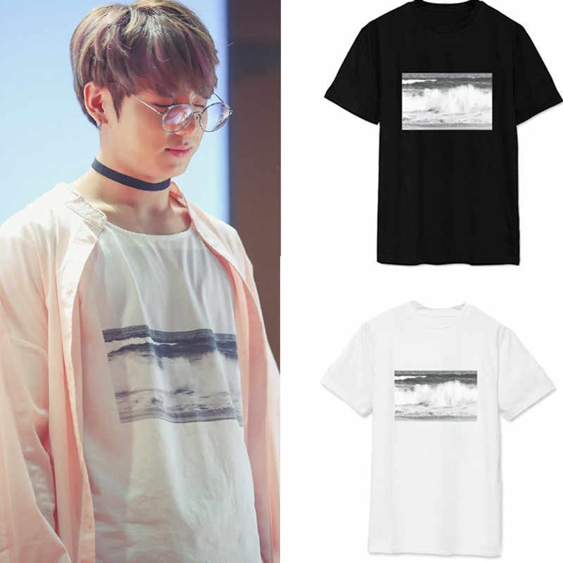 kpop exo Bulletproof jungkook signing will loose summer T-shirt men women short-sleeved Tshirt tide k pop T shirt