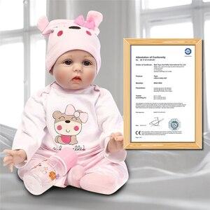 Image 2 - Npk 신생아 다시 태어난 아기 인형 실리콘 귀여운 부드러운 아기 인형 소녀 공주 아이 패션 소녀 bebe reborn dolls 55cm 40cm