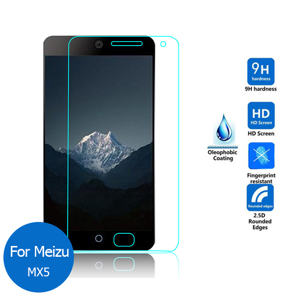 For Meizu MX5 Tempered Glass Screen Protector 0.26mm 2.5 9h Safety Protective Film on Mx 5 M575 M575U M575M M 575 Dual SIM