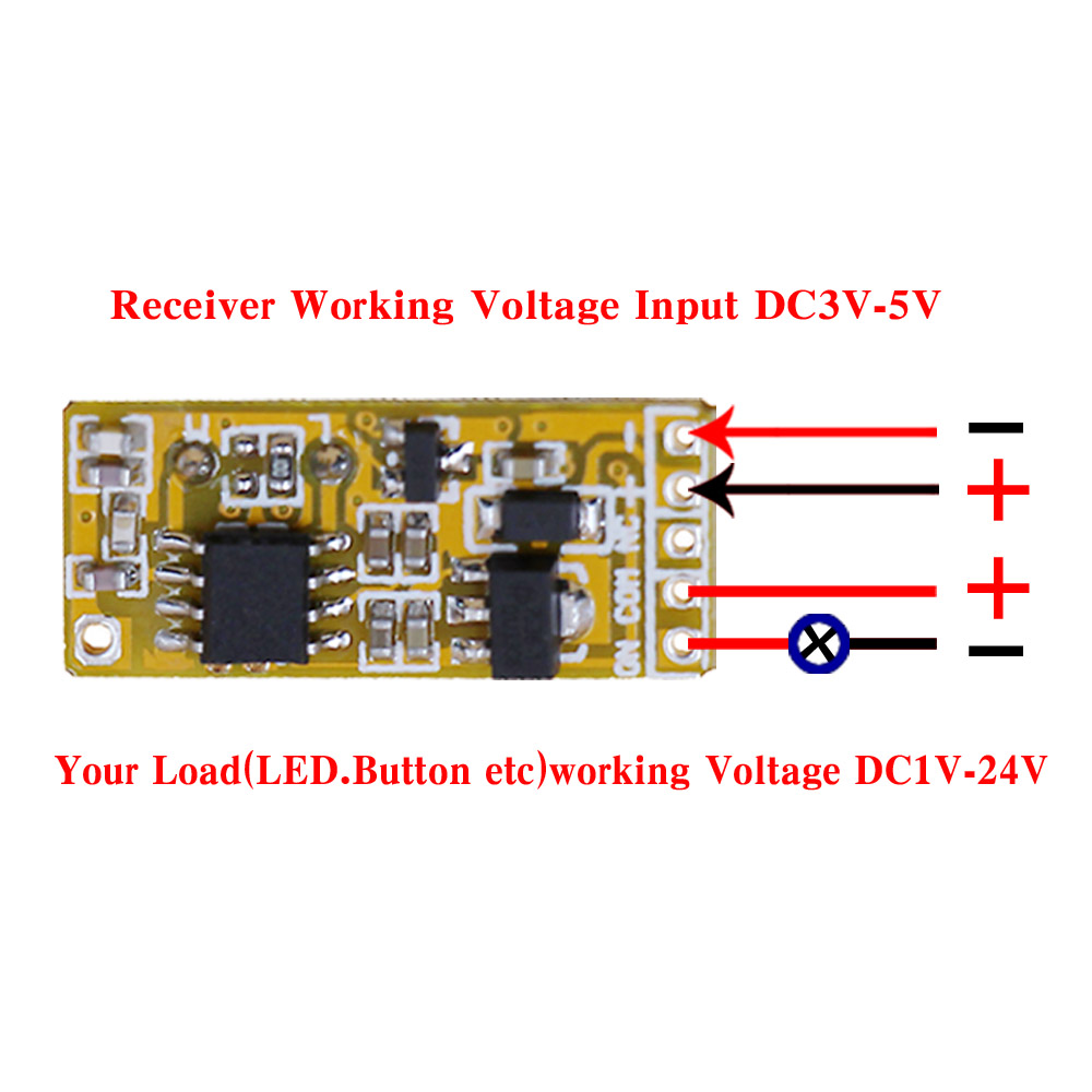 Buy New Desigh Dc35v 5v 6v12v Remote Control Wireless Power Transmitter Circuit Switch 3receiver Wall Radio Controlled Relay From