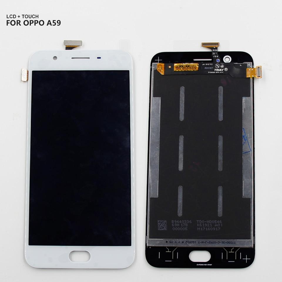 Para Oppo A1601 F1S A59 Tela Touch Display LCD Digitador Assembléia Branco Preto Frete Grátis + Ferramentas