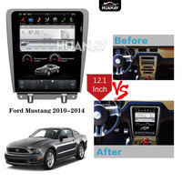 Tesla style Car DVD Player GPS Navigation For Ford Mustang 2010 2014 Android Auto radio stereo player headunit multimedia Setnav