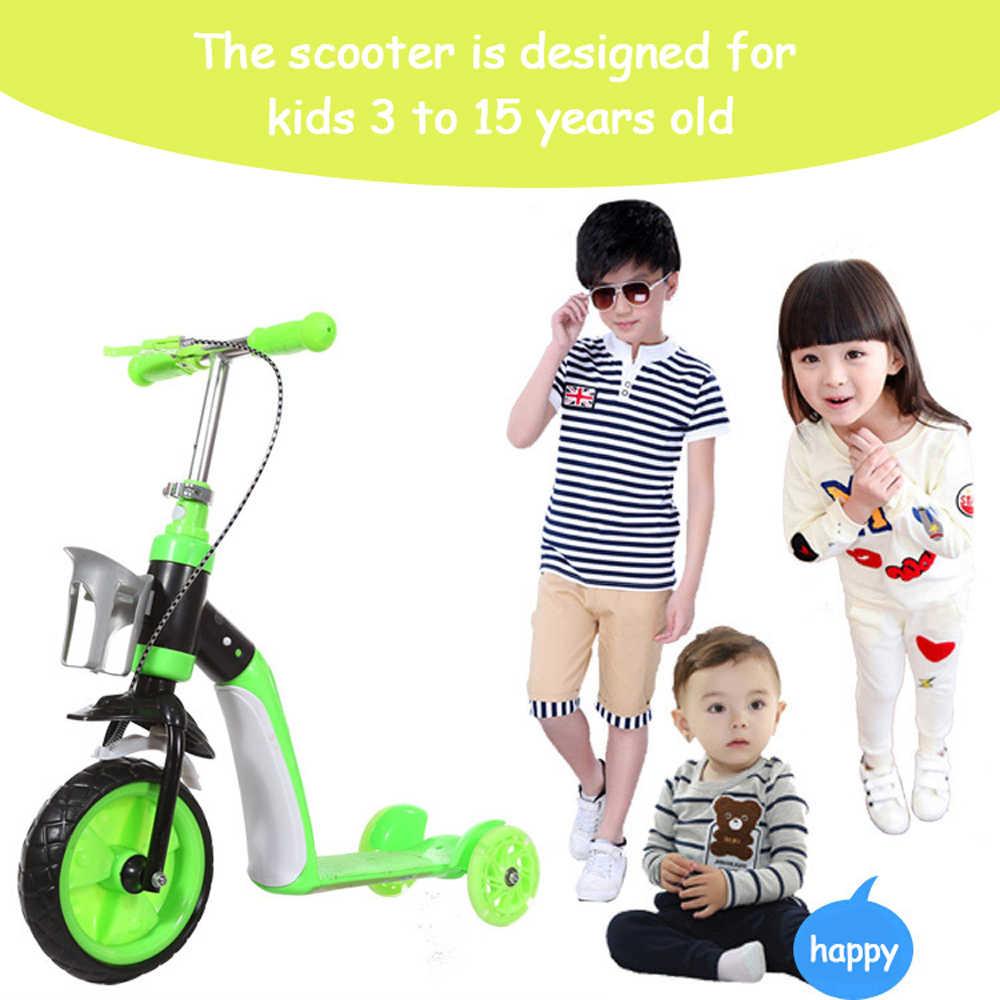 2 で 1 子供スクーターバランス車子供のバランス自転車ベビー多機能三輪車 3 車輪とシート折りたたみ