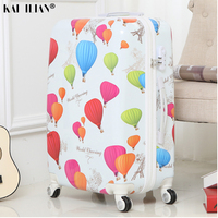 Suitcase with wheels Women cabin spinner rolling luggage girls student travel trolley luggage colourful Road suitcase with wheel