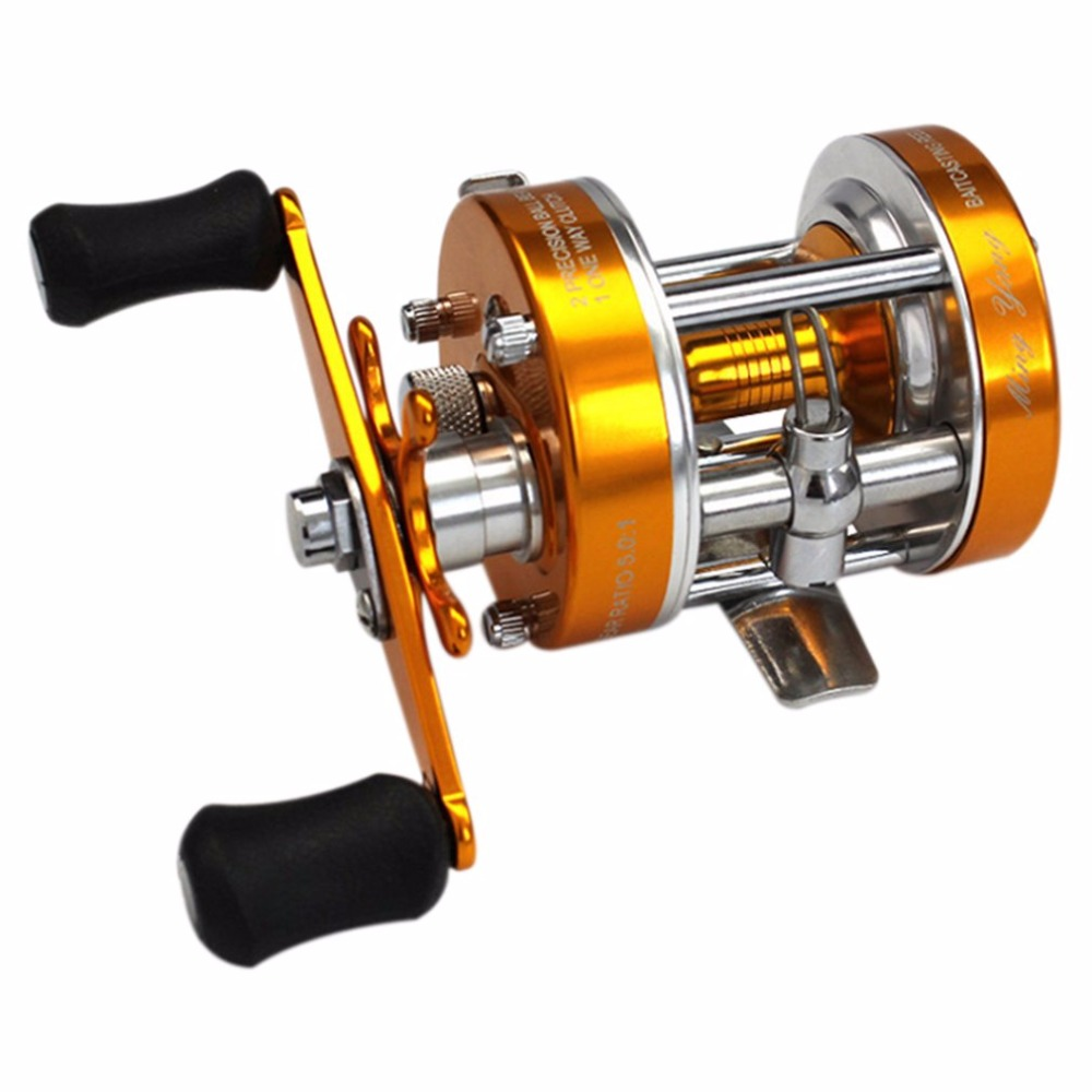CL60 4.2:1 2+1 Ball Bearing Lure Fishing Reel Left-Right Hand Optional Full Metal Round Drum Wheel Baitcasting Reel smart baitcasting reel 6bb 6 2 1 right left hand reel molinete peche carretilha carretes pesca lure wheel fishing line winder