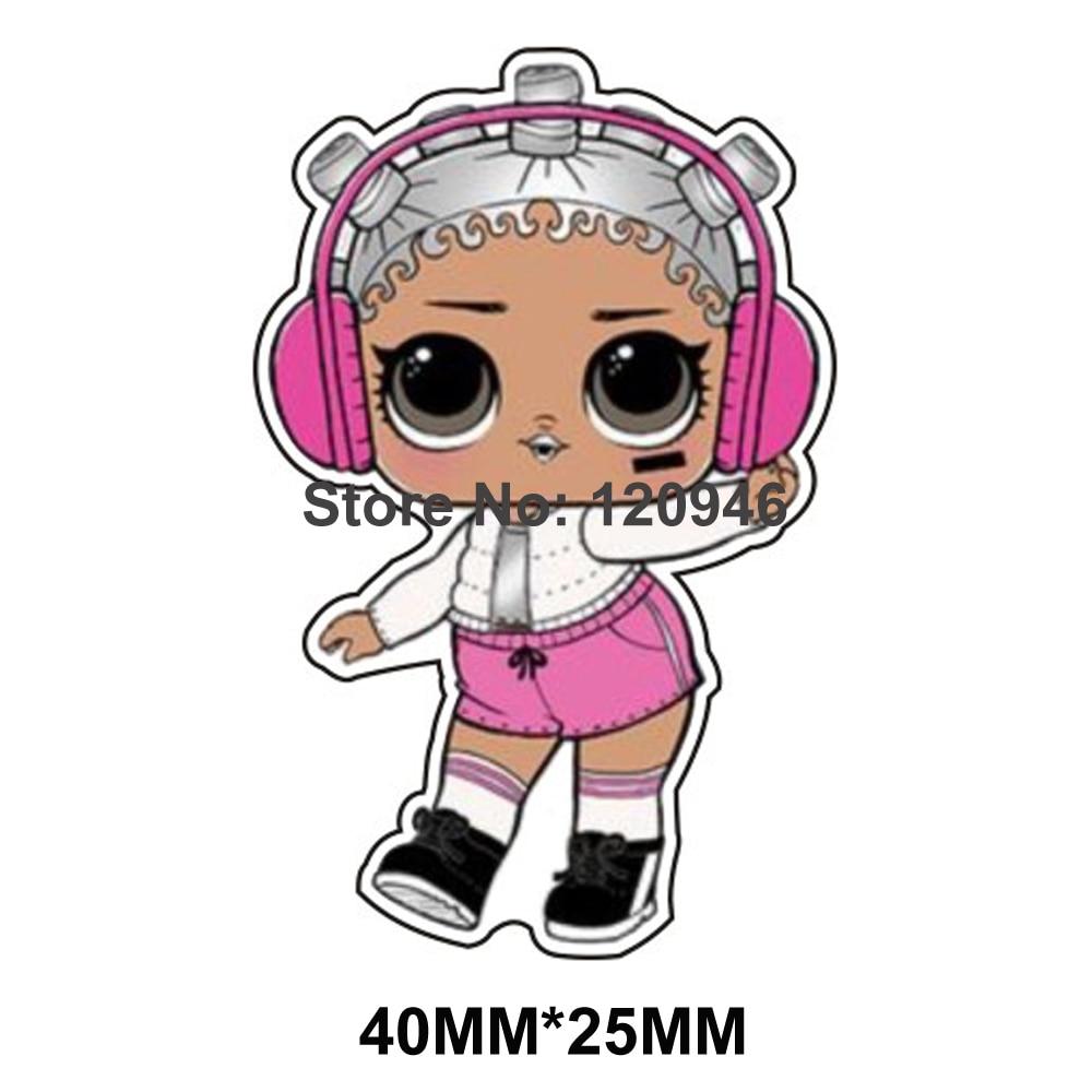 50pcs cute cartoon girl flatback planar resin cabochon diy craft