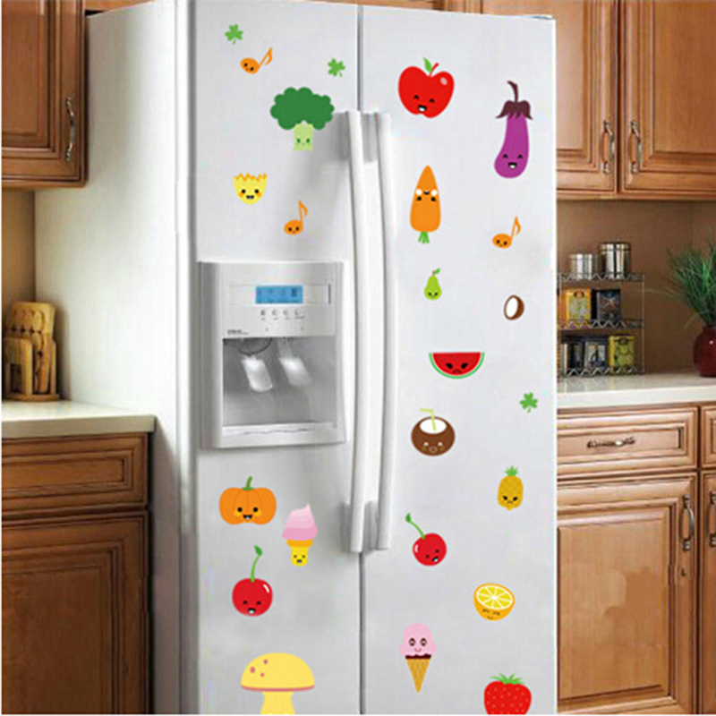 Hot sale colorful fruits fruits watermelon eggplant for Kitchen cabinets lowes with 3d balloon wall art