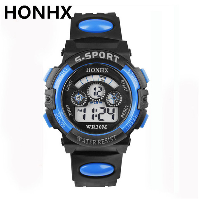 Male Sport Watch Multifunction LED Digital Hours Wrist Analog Round 2018 HONHX F