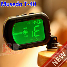Guitar accessories Musedo T-40 guitar tuner violin and ukulele tuner guitar parts Free shipping 31M