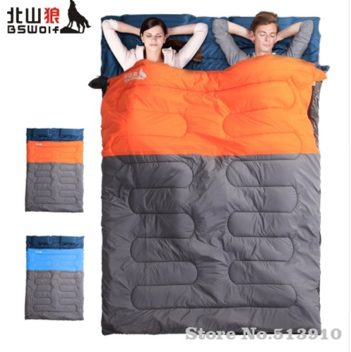 BSWolf Ultralight Cotton Camping Sleeping Bag Camping Lovers Double Sleeping Bag Adults Compression Bag Outdoor 2.2/3.0/3.5kgs