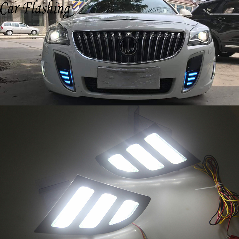 Car Flashing LED Daytime Running Lights For Buick Regal GS Opel Insignia 2010 2011 2012 2013