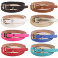 Women Lady Fashion Skinny Narrow Thin Gold Buckle Waist Belt Strap Waistband BLTLL0081