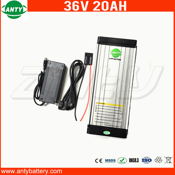 e-Bike Battery 36v 20Ah Lithium ion Battery 36v Built in 30A BMS for Electric Bike 800w Power with 2A Charger Free Shipping free customs taxe 36v 1000w triangle e bike battery 36v 40ah lithium ion battery pack with 30a bms charger for panasonic cell