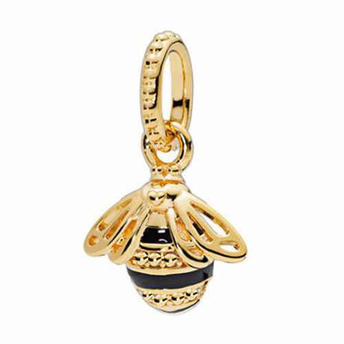 Btuamb Новое поступление слиток цветок пчела попугай Сердце Любовь бабочка кулон Бусины Fit Pandora шарм браслеты для женщин DIY ювелирные изделия