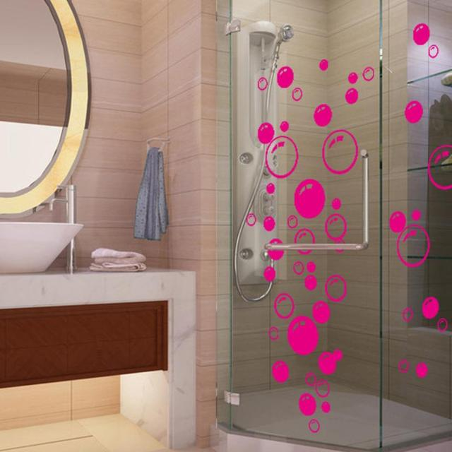 2017 Bubbles Cirkel Verwijderbare Muur Behang Badkamer Raam Sticker ...