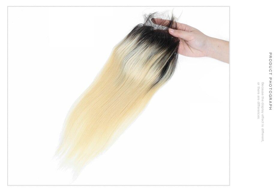 HTB1t6VcaN rK1RkHFqDq6yJAFXau Facebeauty 1B/613 Honey Blonde Brazilian Straight Remy Human Hair 3 Bundles with Lace Closure,Blonde Ombre Bundles with Closure