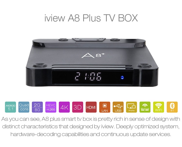 S7 A8 Plus mini Android TV Media Player for Amlogic Europe IPTV Box 4K WiFi Sport Movie Music Service image