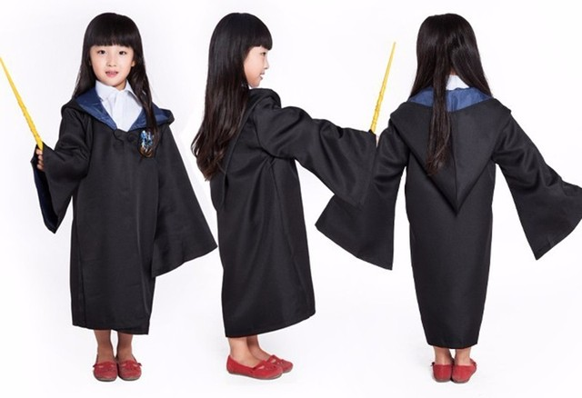 Robe Cape Cloak Gryffindor Slytherin Ravenclaw Hufflepuff Robe Cosplay Costumes Kids Adult for Harri Potter Cosplay 3