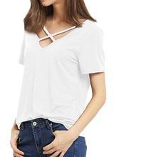 9b268f75e88927 FA Fashion Spring Summer Women Chiffon Blouse Sexy Lace Up V Neck Ruffles  Long Sleeve Black