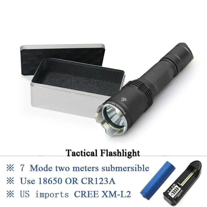 IPX-8 Waterproof torch lanterna Military tactical flashlight cree xm l2 hunting flash light equipment torch linterna use 18650