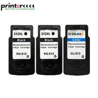 Einkshop 3PK Ink Cartridge PG 512 CL 513 For Canon Pixma iP2700 MP230 MP240 MP250 MP252 MP480 MP280 MP490 MX350 MX360