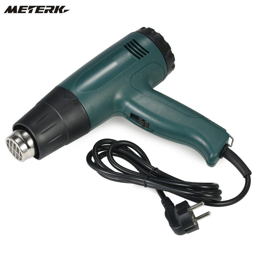 Meterk Temperature-controlled Electric Hot Air Gun Heat Gun Tool Set with 4pcs Nozzles 1800W AC220V Paint Stripper Air Blower laoa 1800w heat gun temperature adjustable hot air gun with over load protect hot air blower