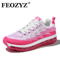 FEOZYZ Full Air Cushion Women Running Shoes Flywire Technology Womens Sneakers Spring Outdoor Sport Shoes Jogging