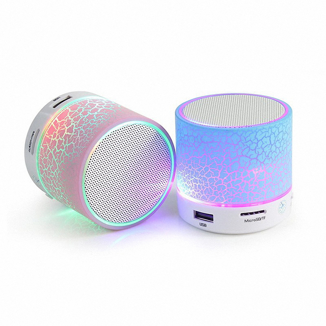 Mini Bluetooth Speaker Led lights Portable FM Music Sound Box Player Digital Speaker Amplifier Reader Micro For PC MP3 TF Card